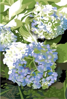 Susan Spangler, shy girl talking, comfort, gardening, hydrangea